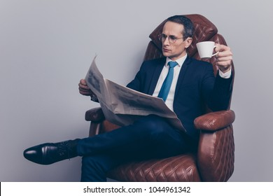 Sit enjoy cozy banker investments politician headline update people leisure style tux director lounge lifestyle leader success  concept. Serious elite classy classic rich man having rest at workplace