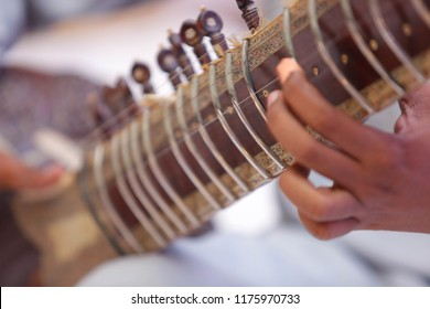 Sitar instrument player professionally