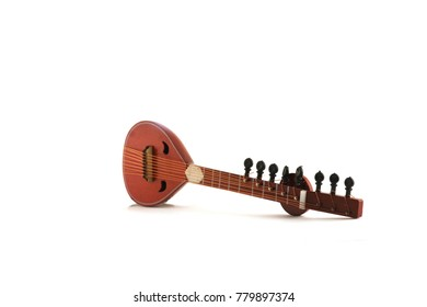 sitar isolated on white background
