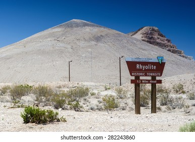 Site of the Ghost City Rhyolite in Death Valley in Nevada State in United States of America. Horizontal Image