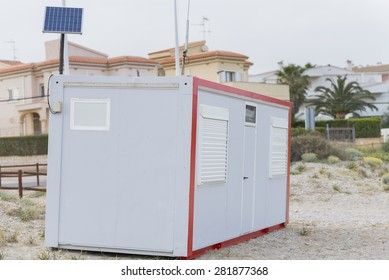 Site hut.