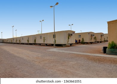 Site residence camp in the oil field