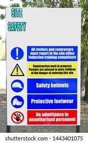 Construction Site Safety Rules Images, Stock Photos