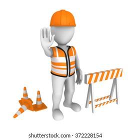 Site under construction. Stop!