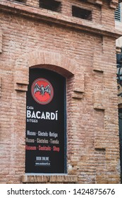 Sitges, Cataloia, Spain. 17 April 2019. The headquarters of the famous Bacardi rum - in Sitges, near Barcelona in Spain.