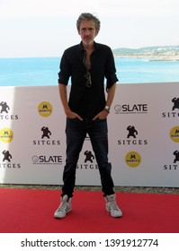 "SITGES, SPAIN - October 11, 2018: 51st Sitges Film Festival - Photo call of ""Tous les dieux du ciel"" - Quarxx"