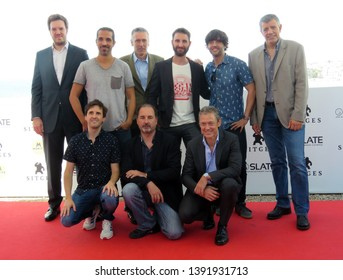 "SITGES, SPAIN - October 11, 2018: 51st Sitges Film Festival - Photo call of ""Superlópez"" team film"
