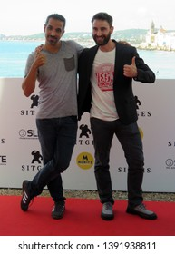 "SITGES, SPAIN - October 11, 2018: 51st Sitges Film Festival - Photo call of ""Superlópez"" - Javier Ruiz Caldera and Dani Rovira"