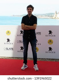 "SITGES, SPAIN - October 11, 2018: 51st Sitges Film Festival - Photo call of ""Superlópez"" - Julián López"