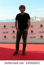 "SITGES, SPAIN - October 11, 2018: 51st Sitges Film Festival - Photo call of ""El año de la plaga"" - Iván Massagué"