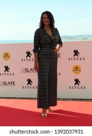 "SITGES, SPAIN - October 11, 2018: 51st Sitges Film Festival - Photo call of ""El año de la plaga"" - Silvia Abril"