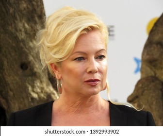 "SITGES, SPAIN - October 11, 2018: 51st Sitges Film Festival - Photo call of ""Cemetery tales: a tale of two sisters"" - Tracy Lords"