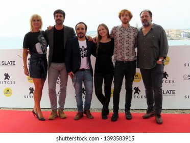 "SITGES, SPAIN - October 12, 2018: 51st Sitges Film Festival - Photo call of ""70 Binladens"" team film"