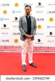 "SITGES, SPAIN - October 13, 2018: 51st Sitges Film Festival - Photo call of ""Fortress of skulls"" - Takuji Izumi"