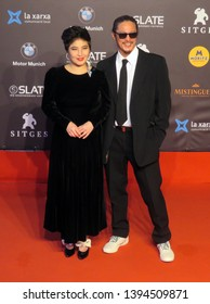 SITGES, SPAIN - October 13, 2018: 51st Sitges Film Festival - Red Carpet of Josie Ho