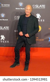 SITGES, SPAIN - October 13, 2018: 51st Sitges Film Festival - Red Carpet of Ed Harris