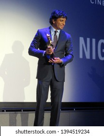 SITGES, SPAIN - October 13, 2018: 51st Sitges Film Festival - M. Night Shyamalan - Grand Honorary Award