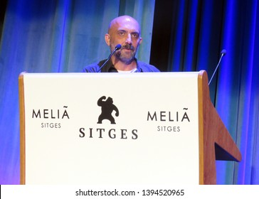 SITGES, SPAIN - October 13, 2018: 51st Sitges Film Festival - Gaspar Noé - Best movie award