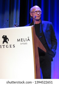 SITGES, SPAIN - October 13, 2018: 51st Sitges Film Festival - Ed Harris - Grand Honorary Award