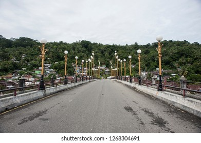 Siti Nurbaya Bridge at Old Town Padang City, West Sumatra, Indonesia