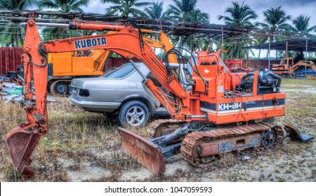 Small excavator images stock photos vectors shutterstock sitiawan perak malaysia march 7 2018 small excavator needed service and malvernweather Images