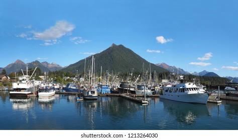 Sitka, Alaska Harbor Panorama