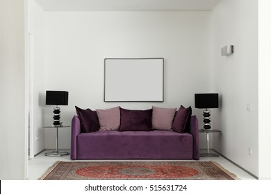 Sitting area in a modern luxury apartment. Zoning in a modern interior