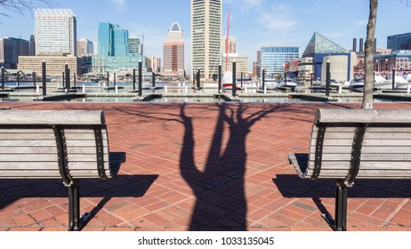 Sitting at the Baltimore Harbor