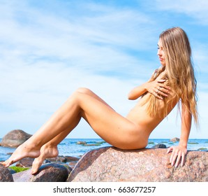 Sitting Beach Beauty