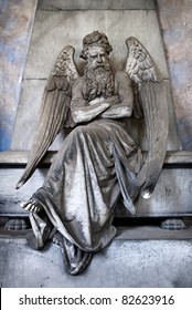 sitting bearded angel