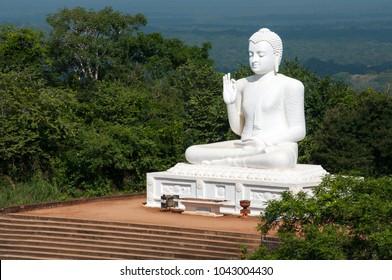 Sitting Buddha statue in Mihintale, Sri Lanka