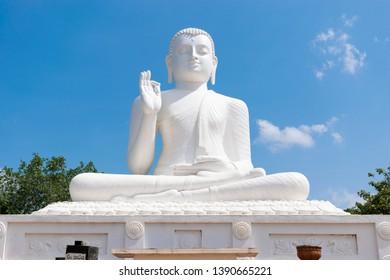 Sitting Buddha statue in top of Mihintale,  Anuradapura Sri Lanka