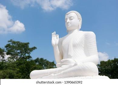 Sitting Buddha statue in top of Mihintale near Ancient city of Anuradapura Sri Lanka