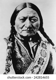 Sitting Bull (1831-1890) Lakota Sioux, in 1885 portrait during his years as a performer in Buffalo Bill's Wild West Show.