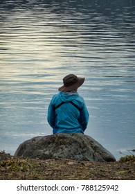 Sitting by the lake contemplating - Yellowstone National Park, USA