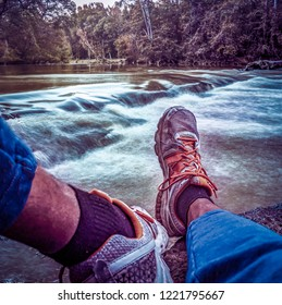 Sitting By The Rushing River