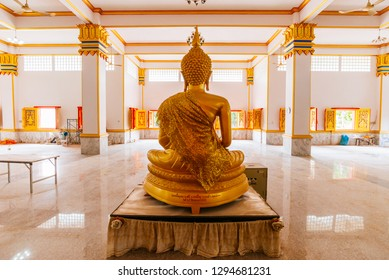 Giant White Buddha Valley Made Meditation Stock Photo (Edit