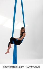 Sitting on acrobatics tissue