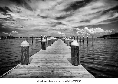 Sitting on the dock on the bay