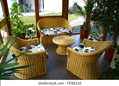 Sitting on the veranda
