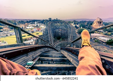 Sitting in the rollercoaster