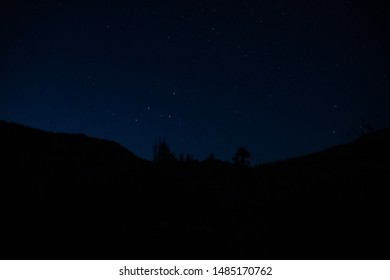Sitting under the stars in the Emigrant Wilderness on a backpacking trip