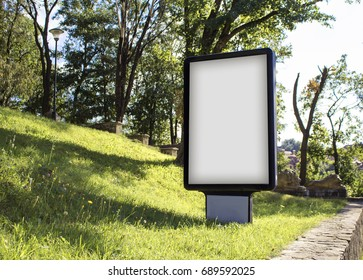 Sitylite mockup on a background of grass and trees