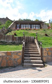 "Sivas / Turkey - Septermber, 17, 2017 : A place where called ""Hobbit Houses"" at Sivas, Turkey"