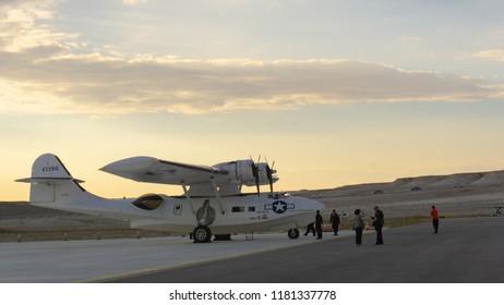 SIVRIHISAR, ESKISEHIR, TURKEY - SEPTEMBER 15, 2018: American Consolidated Aircraft Catalina PBY-5A Sivrihisar Airshows SHG - Sivrihisar Hava