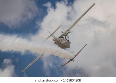 Sivrihisar, Eskisehir, Turkey - September 15, 2018: Sivrihisar Airshows (SHG - Sivrihisar Hava Gosterileri) is one of the few airshows of Turkey, attracting a bigger auidence every year.