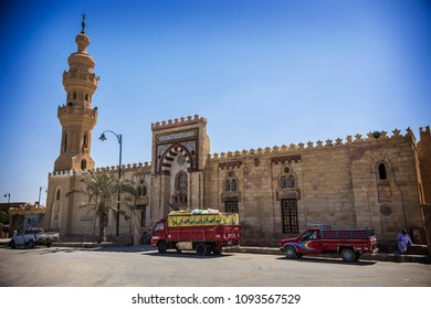 SIWA, EGYPT - April 2018: Old Mosque at Siwa oasis. Siwa mosque building, Egypt