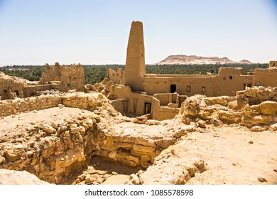 SIWA, EGYPT - April 2018: Oracle temple or Amun Revelation Temple at Siwa oasis, temple where Alexander the Great was predicted to conquer the whole world, Egypt