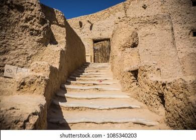SIWA, EGYPT - April 2018: Shali fortress ruins, Siwa oasis old town, Egypt