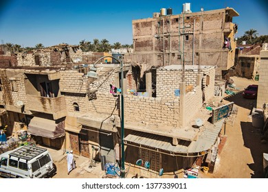SIWA, EGYPT - April 2018: Siwa village view. Traditional Egyptian sandstone houses. Siwa oasis, Egypt